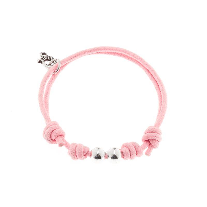 De algodón nudos y bolas rosa