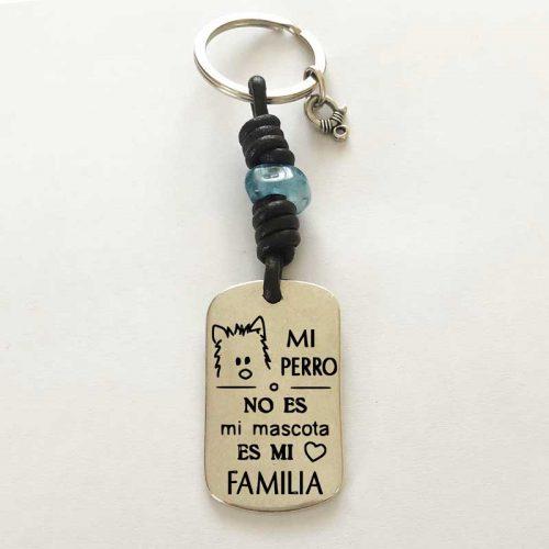 Llavero personalizado : Mi Perro es mi Familia