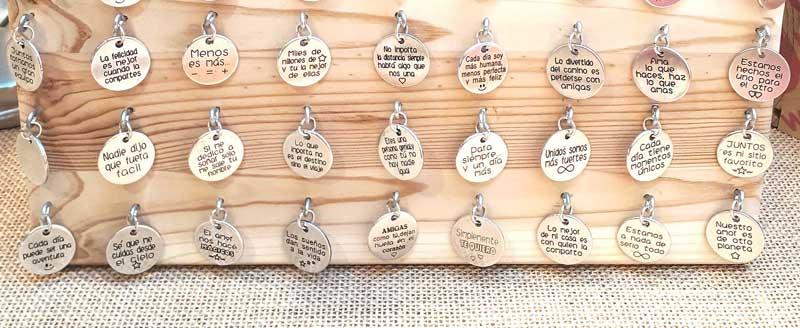 Pulseras personalizadas, regalos con mensaje ideales para mamá, para enamorados, para papá, para la abuela...