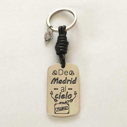 Llavero personalizado : De Madrid al Cielo