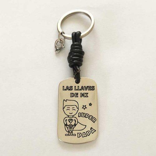 Llavero personalizado : Las llaves de Papá