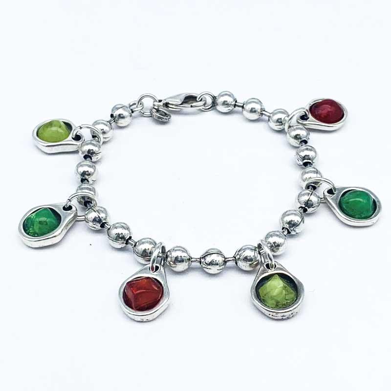 6 colores verdes y rojo