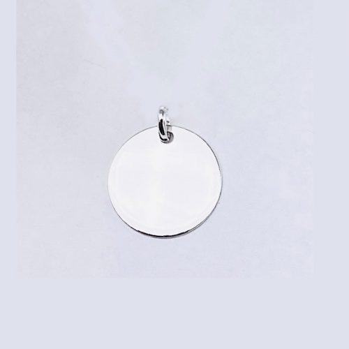 Medalla pequeña de  11MM de plata de ley 925.
