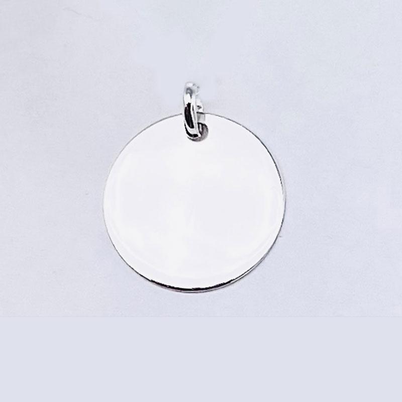 Medalla mediana de 15MM de plata de ley 925.