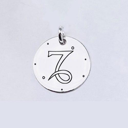 Medalla Personalizada de 22 mm Capricornio