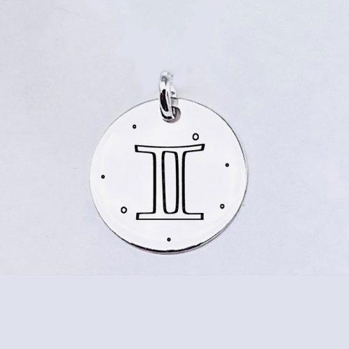 Medalla grande de 20MM plata de ley 925.
