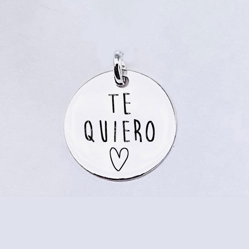 Medalla Personalizada de 22 mm Te Quiero
