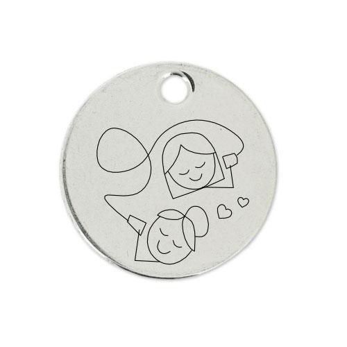 Medalla Personalizada de 22 mm Comunicándose