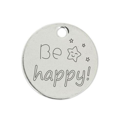 Medalla Personalizada de 22 mm Be Happy
