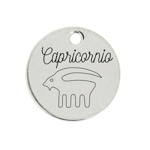 Medalla Personalizada de 22 mm Capricornio D