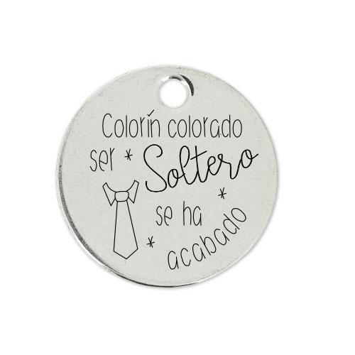 Medalla Personalizada de 22 mm Ser Soltero