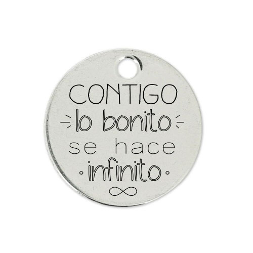 Medalla Personalizada de 22 mm Se hace Infinito