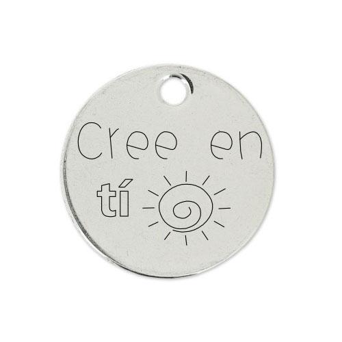 Medalla Personalizada de 22 mm Cree en Ti