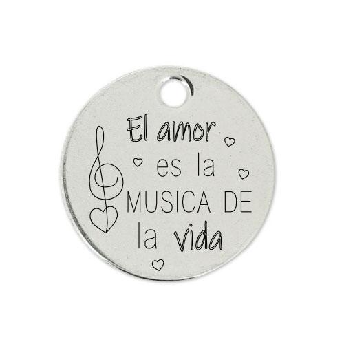 Medalla Personalizada de 22 mm La Música de la Vida