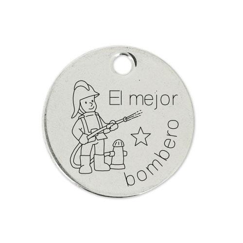 Medalla Personalizada de 22 mm El Mejor Bombero