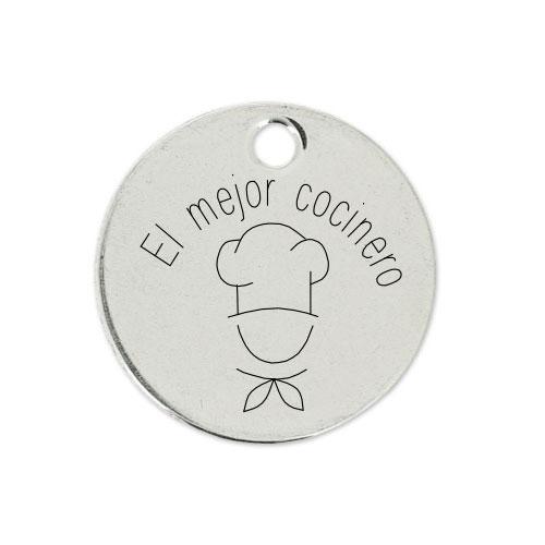 Medalla Personalizada de 22 mm El Mejor Cocinero