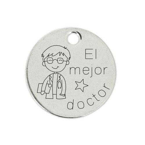 Medalla Personalizada de 22 mm El Mejor Doctor