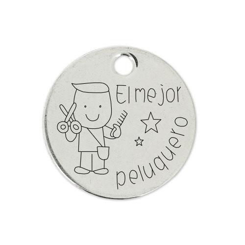 Medalla Personalizada de 22 mm El Mejor Peluquero