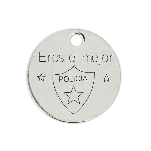 Medalla Personalizada de 22 mm Eres el Mejor Policia 01