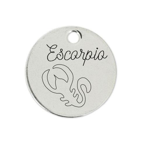 Medalla Personalizada de 22 mm Escorpio D