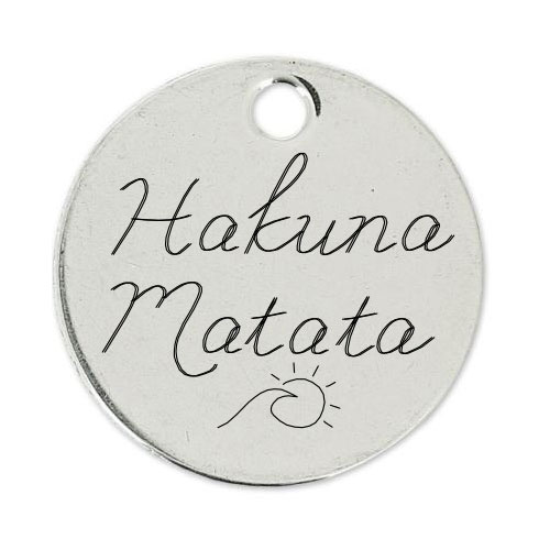 Medalla Personalizada de 22 mm HAKUNA MATATA