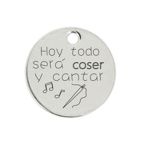 Medalla Personalizada de 22 mm Coser y Cantar