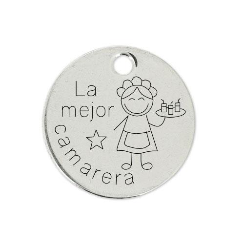 Medalla Personalizada de 22 mm La Mejor Camarera