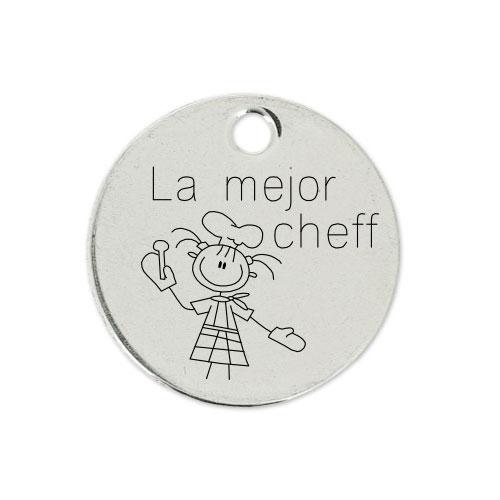 Medalla Personalizada de 22 mm La Mejor Cheff