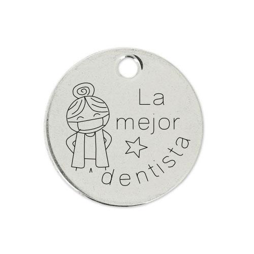 Medalla Personalizada de 22 mm La Mejor Dentista