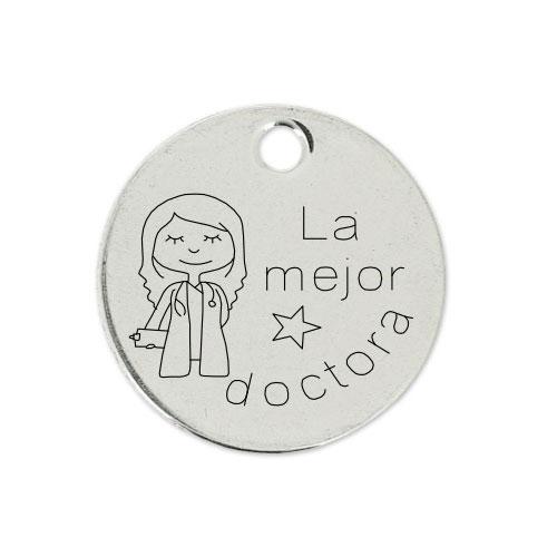 Medalla Personalizada de 22 mm La Mejor Doctora