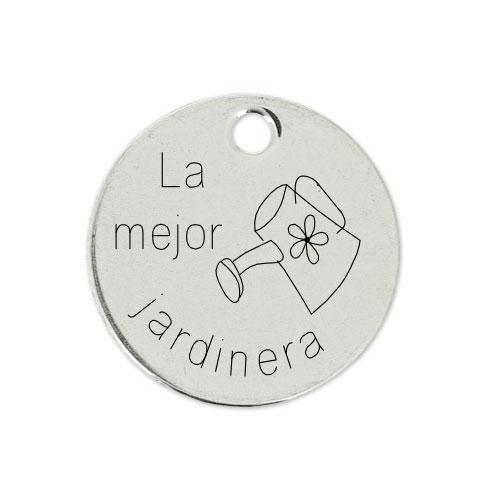 Medalla Personalizada de 22 mm La Mejor Jardinera