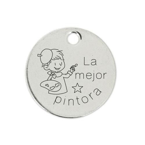 Medalla Personalizada de 22 mm La Mejor Pintora