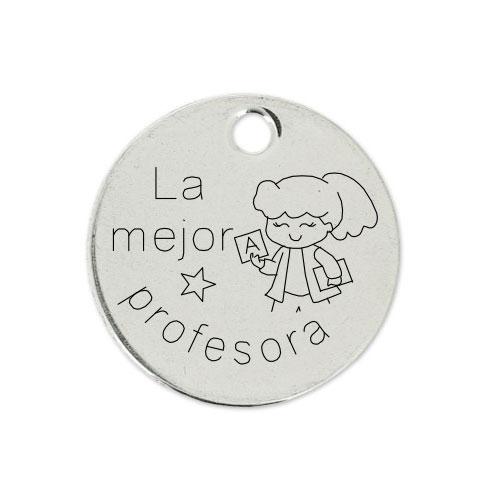 Medalla Personalizada de 22 mm La Mejor Profesora