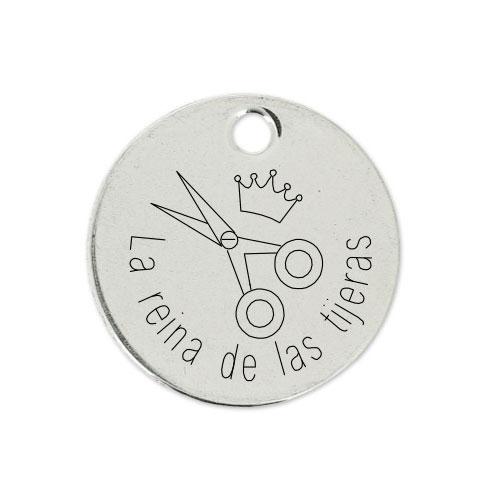 Medalla Personalizada de 22 mm La Reina de las Tijeras