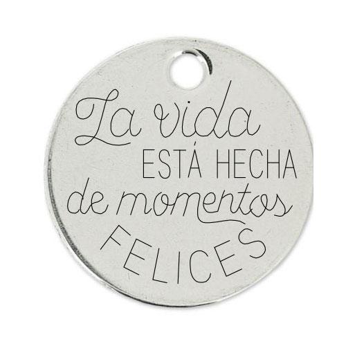 Medalla Personalizada de 22 mm Momentos Felices