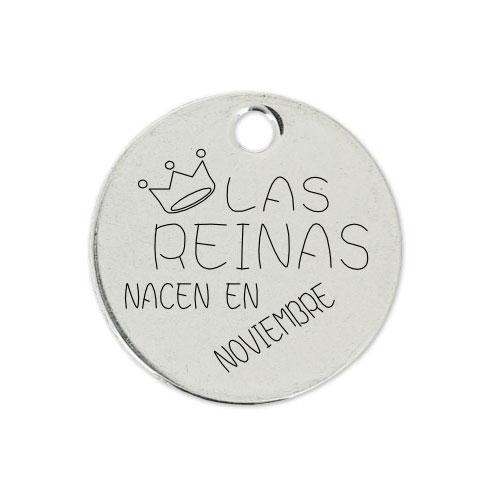 Medalla Personalizada de 22 mm Las Reinas