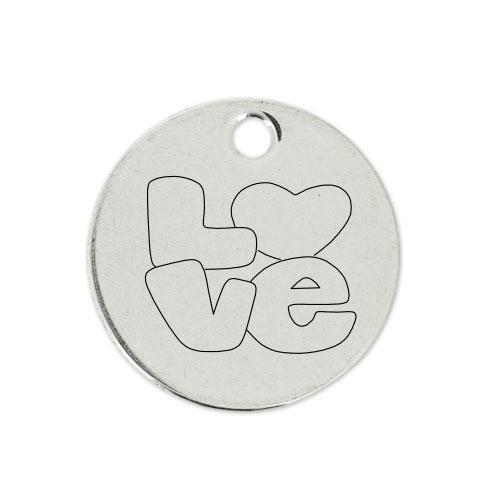 Medalla Personalizada de 22 mm Love