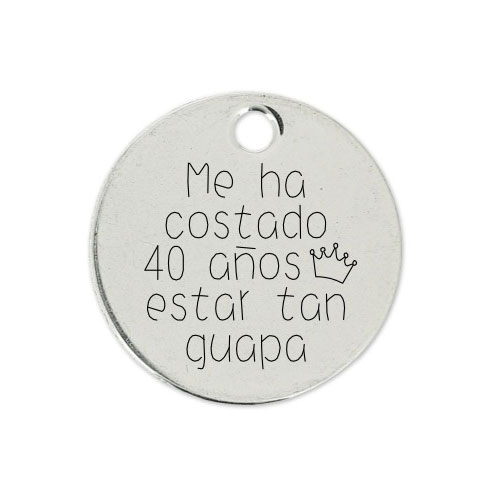 Medalla Personalizada de 22 mm Estar Tan Guapa