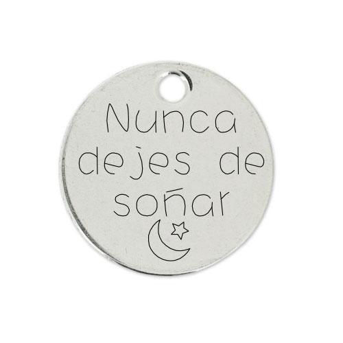 Medalla Personalizada de 22 mm Nunca dejes de Soñar