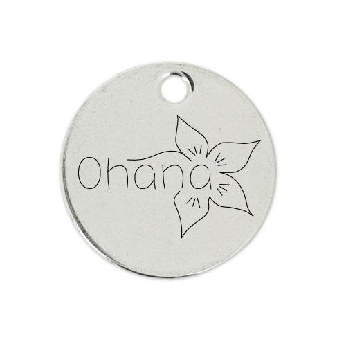 Medalla Personalizada de 22 mm Ohana