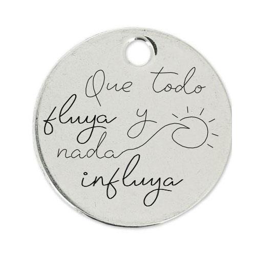Medalla Personalizada de 22 mm Que todo Fluya