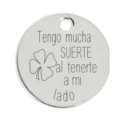 Medalla Personalizada de 22 mm Suerte de Tenerte
