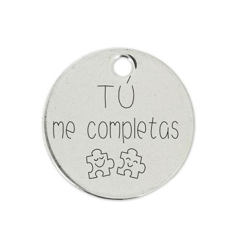 Medalla Personalizada de 22 mm Tu Me Completas