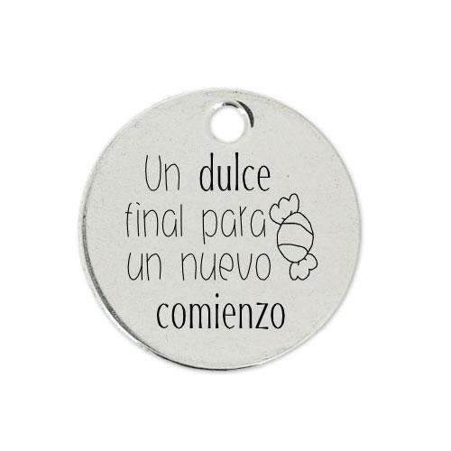 Medalla Personalizada de 22 mm Final y Comienzo