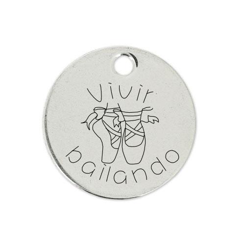 Medalla Personalizada de 22 mm Vivir Bailando
